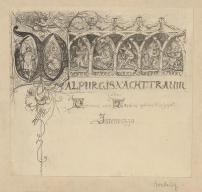 Entwurf zu einer Vignette zu Faust I: Walpurgisnachtstraum