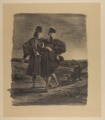 Faust, Wagner und der Pudel. Faust, Wagner et le barbet