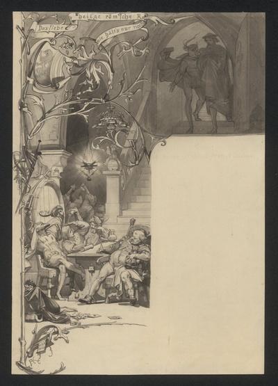 Mephisto führt Faust in Auerbachs Keller