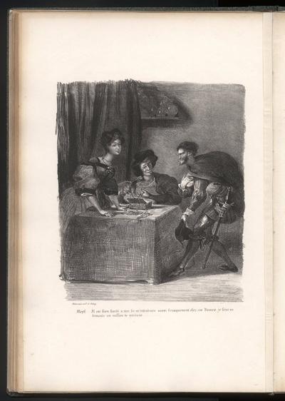 Mephisto stellt sich bei Frau Marthe vor