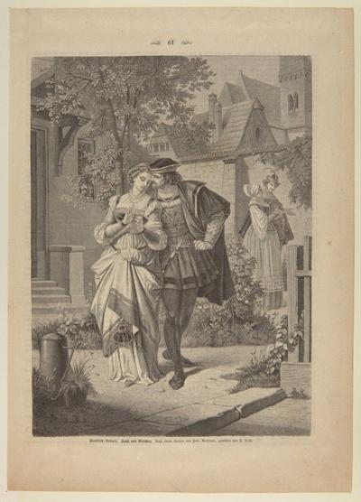 Faust und Gretchen im Garten