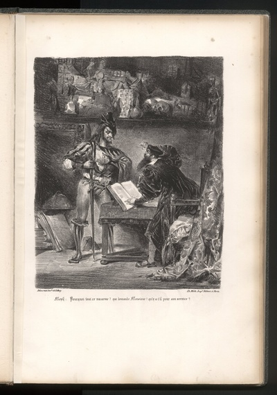 Mephisto erscheint Faust