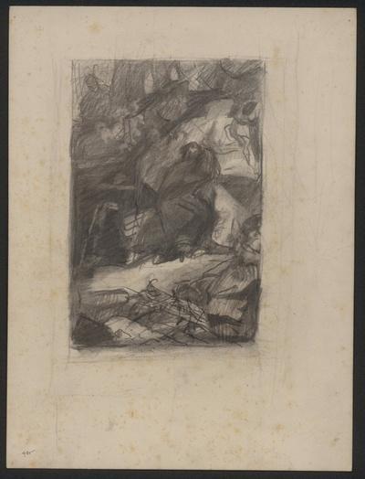 Wald und Höhle. Skizze zur einer Illustration zu Faust I