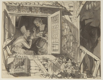 Gretchen zeigt Frau Marthe den Schmuckkasten