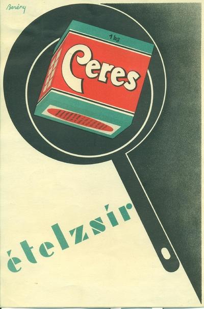 Ceres ételzsír villamosplakátja