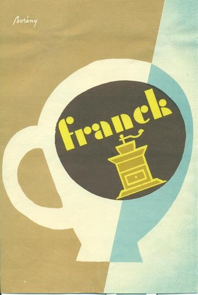 Franck kávé villamosplakát