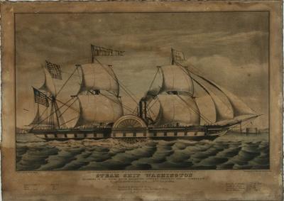 """""""STEAM SHIP WASHINGTON"""" - Raddampfer """"Washington"""""""