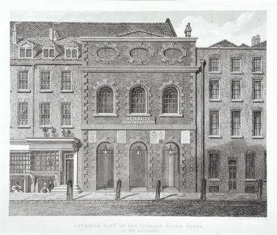 Image from object titled Das Italienische Opernhaus am Haymarket in London, Außenansicht