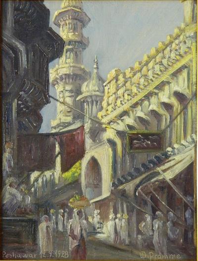 Straßenbild von Peshawar 12.9.1928