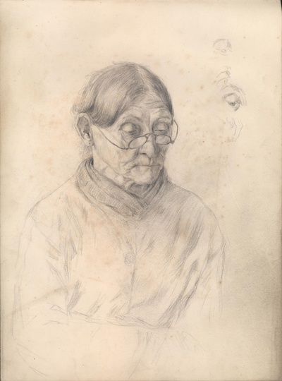 Image from object titled Frau mit Brille