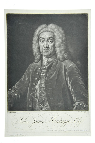 Porträt John James Heidegger