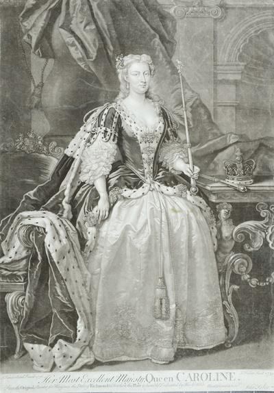 Porträt Caroline, Königin von England