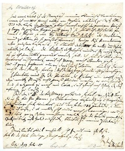 Brief von Johann Friedrich Reichardt an Johann Gottlob Immanuel Breitkopf(?)