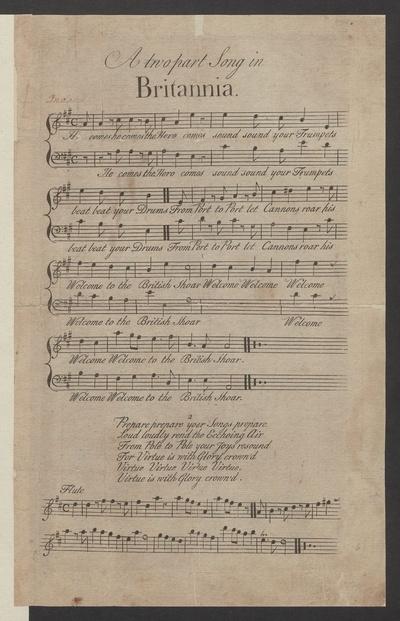 A two part song in Britannia