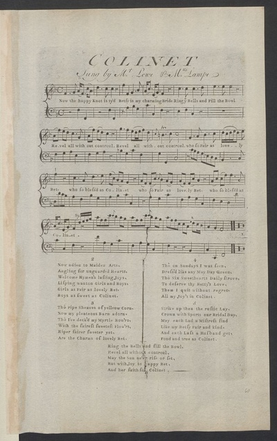 Colinet : sung by Mr. Lowe & Mrs. Lampe