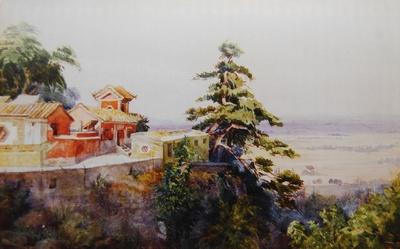 Buddhistische Tempelanlage Ta Chiao sse im September 1896