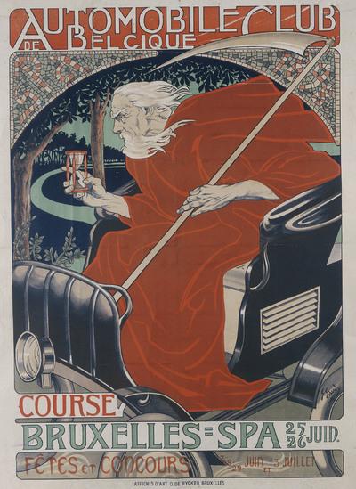 Automobile Club Belgique. Course Bruxelles - Spa