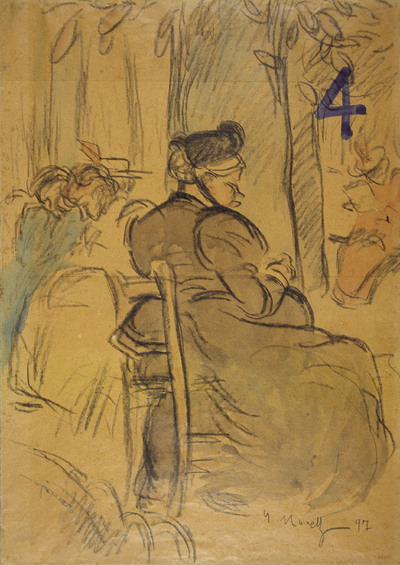 Woman seated in a park