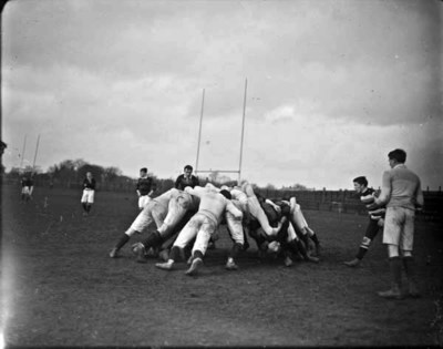 Image from object titled Rugby players in a scrum