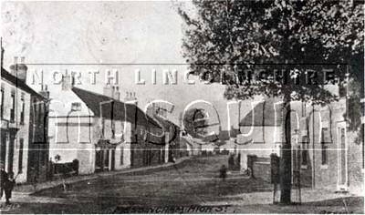 Messingham High Street looking north, c.1906.