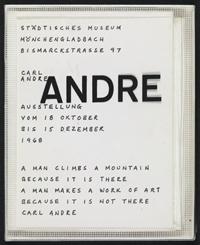 Artist book (Mönchengladbach, Städtisches Museum Abteiberg, 1968) [dut] -; Artist book (Mönchengladbach, Städtisches Museum Abteiberg, 1968) [fre]