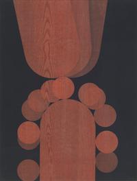 Twee afgeronde rechthoeken en twaalf schijven [dut] -; Deux rectangles arrondis et douze disques [fre]