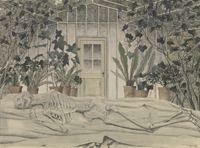 De winter (geraamte in een serre) [dut] -; L' Hiver (Squelette dans une serre) [fre]