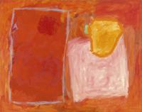 Schilderij nr. 58 - roze en rood [dut] -; Peinture n° 58 - rose et rouge [fre]