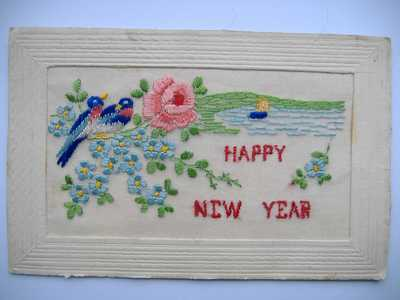 Embroidery on post cards (8)