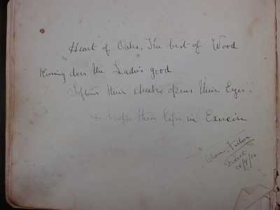 Autograph book from Didcot relating to Kenneth Tallett and Family (16)