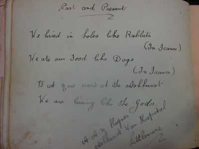 Autograph book from Didcot relating to Kenneth Tallett and Family (50)