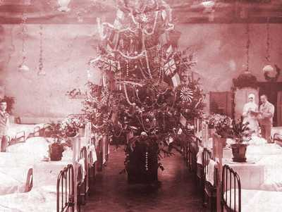 Image from object titled Christmas at the Michie Hospital