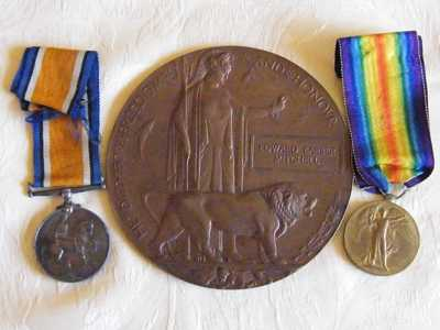 Medals and Memorial Plaque of Pte. Mitchell (2)