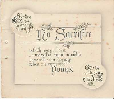 Image from object titled Christmas card received by Walter Powell (1)