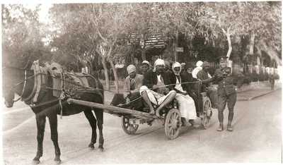 Photograph of James Ryan with horse and cart
