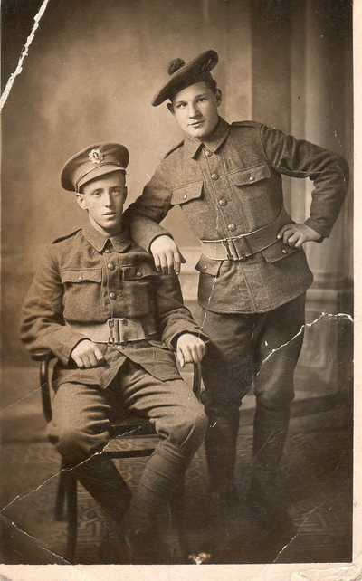 Photograph of Private Robert Simpson and Josh Kirk