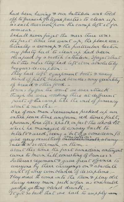 Memoir of Frank Stokes recording his time in training camp (12)