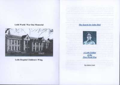 The Search for John Dick: A Leith Soldier of the First World War (2)