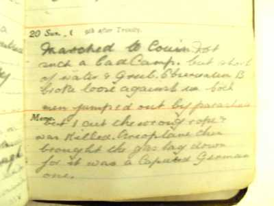 Photographs of Private Frank Kelty's Diary (3)