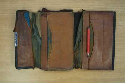 Wallet and pencil carried by John Barnard during his service in France (1)