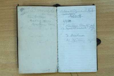 Notebook carried by John Barnard during his service in France (2)