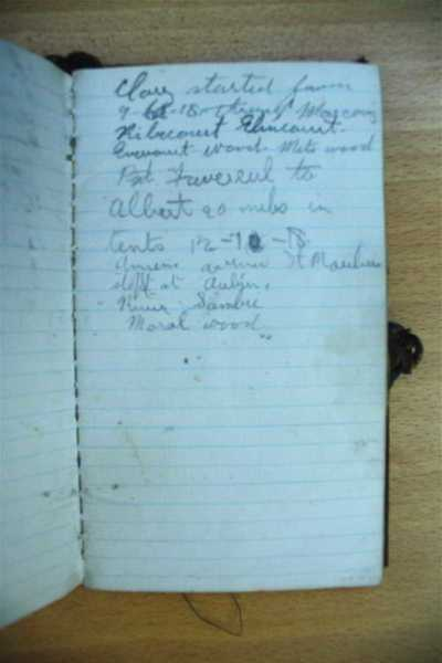 Notebook carried by John Barnard during his service in France (3)