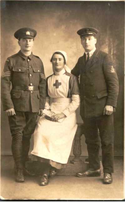 Photograph of Corporal John Henry Kelty with his sister and cousin (1)
