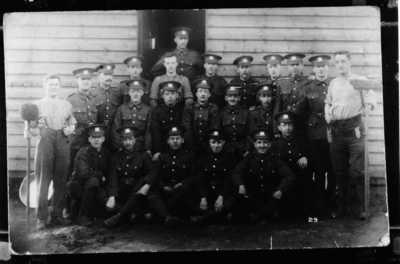 Photograph of Corporal John Henry Kelty with his battalion (4)