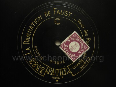 Image from object titled La Damnation de Faust ; voici des roses