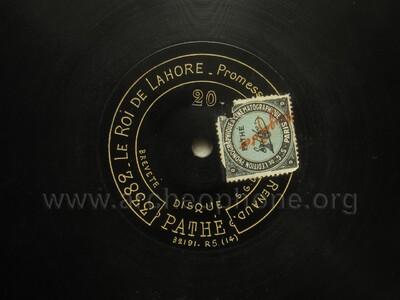 Image from object titled Le Roi de Lahore ; promesse de mon avenir