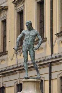 Wrocław - fontanna z szermierzem