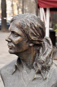 Image from object titled Warsaw – monument to Agnieszka Osiecka