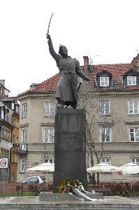 Warsaw – monument to Jan Kiliński