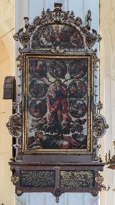 Gdańsk - bazylika Mariacka - Tablica Jałmużnicza